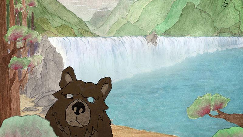 Hanging Bear